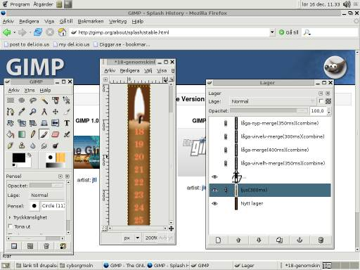 Gimp with Expressn Candle Tutorial - screenshot